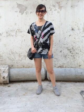 Larina Liaoさんの(GIORDANO|ジョルダーノ)を使ったコーディネート