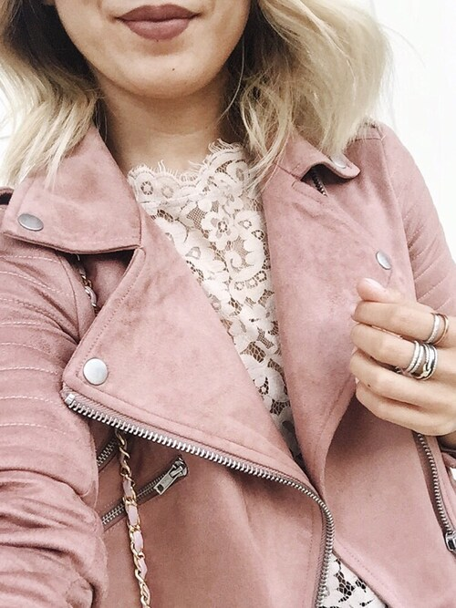 「Suedette moto jacket(asos)」 using this slammy looks