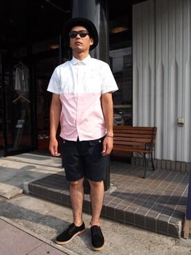 PAZURU パズルさんの「サンディニスタ/Half&Half OX S/S Shirt(Sandinista)」を使ったコーディネート