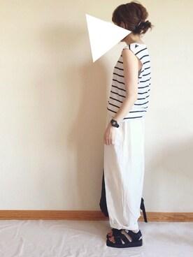 sanさんの「綿麻ルーズビックパンツ【niko and...】(niko and...|ニコアンド)」を使ったコーディネート