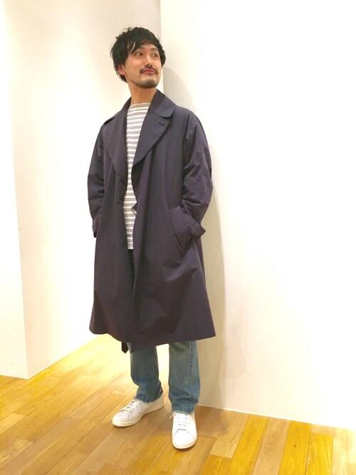 Bshop 博多店wakamatsuさんのTシャツ/カットソー「【ORCIVAL】コットンロード フレンチバスクシャツ WHT (ORCIVAL|オーシバル)」を使ったコーディネート