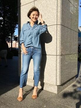 Deuxieme Classe 丸の内店|AYAさんの「MADISON BLUE シャンブレーシャツ◆(MADISON BLUE)」を使ったコーディネート