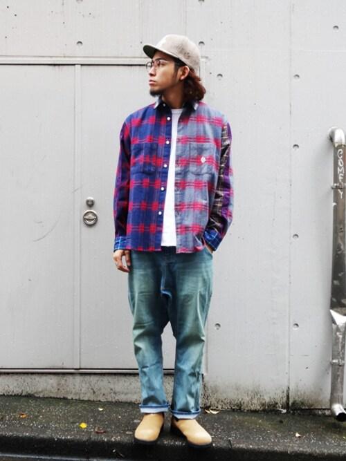 ALDIES SHIBUYAはらださんのシャツ/ブラウス「Meta Wide Shirt ネル ワイドシャツ(ALDIES|アールディーズ)」を使ったコーディネート