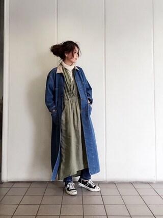 LIFE's#203代官山店 | MOMOKO KOIKEチェスターコート「TODAYFUL デニムロングコート」Styling looks