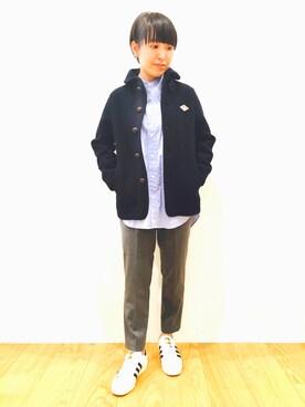 Bshop 有楽町ルミネ店|takeuchiさんの「【DANTON(ダントン)】ウールモッサシングルジャケット WOMEN(Danton)」を使ったコーディネート