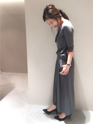 FRAY I.D nozomi mizuguchiさんの「トゥ切替えパンプス(FRAY I.D フレイ アイディー)」を使ったコーディネート