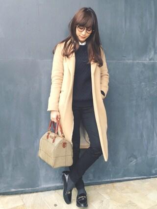 瀬戸晴加さんの「WOMEN レーヨンロングシャツ(長袖)+E(ユニクロ|ユニクロ)」を使ったコーディネート