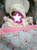 APRICOTさんの「moco moco'パウダー'kidsパイピングブランケット(gelato pique Baby&Kids|ジェラートピケ ベイビーアンドキッズ)」を使ったコーディネート