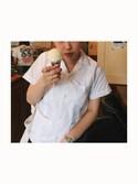 HARUNAさんの「CORAZON / BOY'S グアヤベラ(BEAMS BOY|ビームスボーイ)」を使ったコーディネート