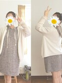 「Eileen Fisher Organic Linen & Cotton Crewneck Cardigan (Regular & Petite)(Eileen Fisher)」 using this 🌸 hina 🌸 looks