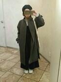 chibitaさんの「KBF バックZIPネックコート(KBF|ケイビーエフ)」を使ったコーディネート