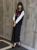 「Raf Simons Patterned Wool-Blend Vest(Raf Simons)」 using this YonYon looks