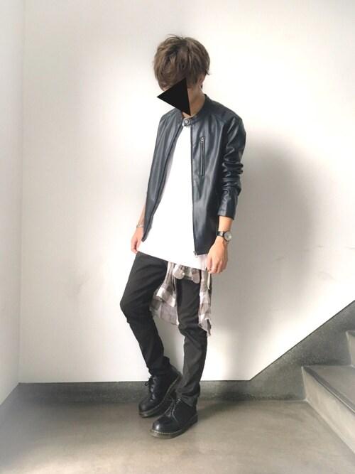 Man Cave Urban Zara : ざっきぃ|zara manのライダースジャケットを使ったコーディネート wear