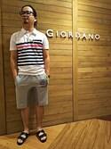 GIORDANOサンステ福山店さんの「[GIORDANO] フラットベルトサンダル(GIORDANO|ジョルダーノ)」を使ったコーディネート