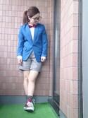 REIさんの「【瀬戸晴加さん着用】せとはる×UNRELISHコラボ ハーフパンツ(UNRELISH|アンレリッシュ)」を使ったコーディネート