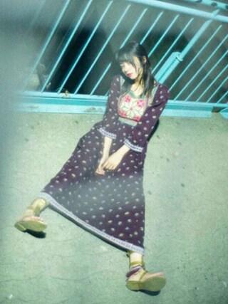 池田エライザさんの「VIVIENNE WESTWOOD Thong sandals(Vivienne Westwood|ヴィヴィアンウエストウッド)」を使ったコーディネート