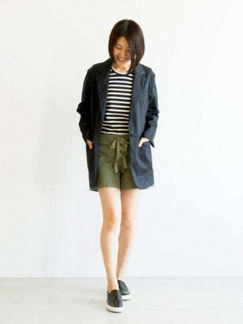 宮崎夢夏さんの「シングル テーラード ジャケット(Traditional Weatherwear)」を使ったコーディネート