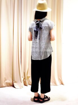 actuel アクア広島店|takakoさんの「バックリボン2WAYスキッパーブラウス(actuel|アクチュエル)」を使ったコーディネート
