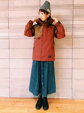 MOEKO SHIBATA│MANASTASHのダウンジャケット/コートコーディネート