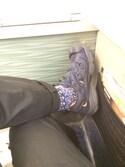 「White Mountaineering Fair Isle Knit Socks(White Mountaineering)」 using this やまちお looks