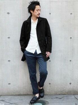 KATHARINE HAMNETT LONDON 渋谷ファイヤー通り|MURAsanさんの「【HAMNETT】 ステンカラーコート / コート(HAMNETT)」を使ったコーディネート