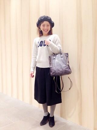 新宿フラッグスbijiness by SAZABY はやかわさんの「WCN-12/リュック(SAZABY サザビー)」を使ったコーディネート