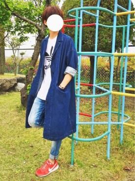 gakuさんの「【adicolor】オリジナルス ロゴTシャツ [ORIG TREFOIL TEE](adidas|アディダス)」を使ったコーディネート