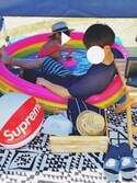 gakuさんの「BACKWORDS FORWARD TOWEL(SATURDAYS SURF NYC|サタデーズ ニューヨークシティ)」を使ったコーディネート