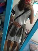 「FOREVER 21 Varsity-Striped T-Shirt Dress(Forever 21)」 using this R i K A  looks