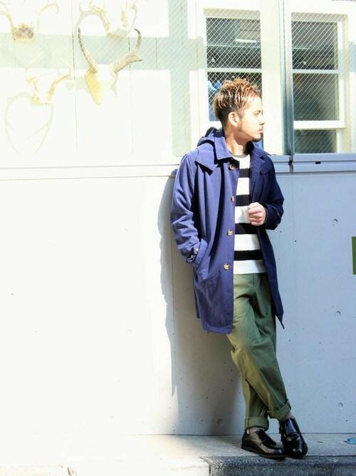 クロップドパンツ 着こなし メンズ「FREAK'S STORE/フリークスストア リネン畔編みプルオーバー」を使ったコーディネート