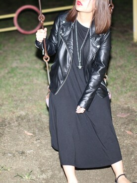 「FOREVER 21 Faux Leather Moto Jacket(Forever 21)」 using this ばろん looks