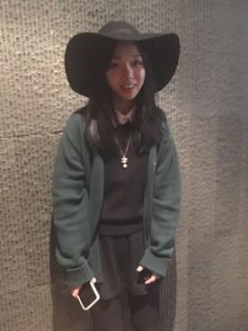 「HENRIETTA TRIBY HAT VELVET(MAISON MICHEL)」 using this 小昱嘉 looks