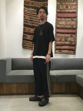 ビューティ&ユース ユナイテッドアローズ 富士見店 Daisuke Kuoriさんの(Needles Sportswear ニードルス スポーツウェア)を使ったコーディネート