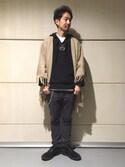 Daisuke Kuoriさんの「<CBM> WOOL PONCHO 2/ポンチョ◆(BEAUTY&YOUTH UNITED ARROWS|ビューティアンドユースユナイテッドアローズ)」を使ったコーディネート