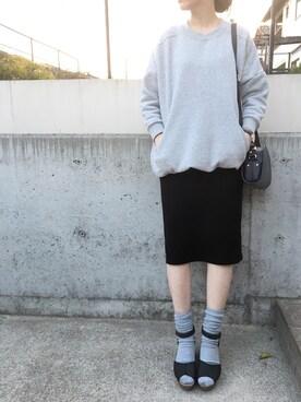himarisoさんの「【PLAIN CLOTHING】ポケットスウェット(PLAIN CLOTHING)」を使ったコーディネート