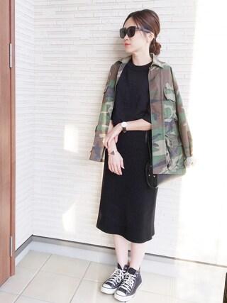 himarisoさんの「【ROTHCO】BDU SHIRTS ミリタリーシャツジャケット(LE JUN|ル ジュン)」を使ったコーディネート