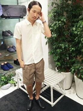 STUDIOUS MENS ���~�l�G�X�g�V�h�X�b�����삳��̃p���c�uSTUDIOUS T/R�X�����V���[�c MADE IN JAPAN�iSTUDIOUS�b�X�e���f�B�I�X�j�v���g�����R�[�f�B�l�[�g