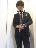 A☆Gさんの「UA タイピン A (UA CLOTHING MATTERS掲載商品)▽(UNITED ARROWS|ユナイテッドアローズ)」を使ったコーディネート