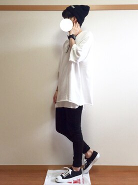 daiさんの「◆WEGO/スラブ天竺ビッグTシャツ(WEGO|ウィゴー)」を使ったコーディネート