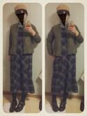 かなもさんの「◎BEAMS BOY / ビエラ チェック ジャンパースカート(BEAMS BOY ビームスボーイ)」を使ったコーディネート
