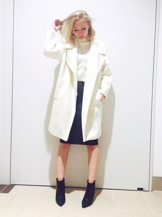 RANDA piole姫路店 yoshika.oさんの「コクーンシルエットコート(RANDA ランダ)」を使ったコーディネート