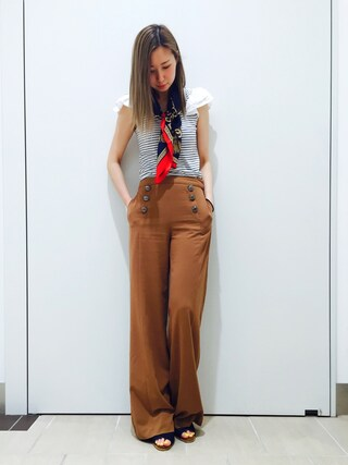 RANDA piole姫路店|yoshika.oさんの「オープントゥサボサンダル(RANDA|ランダ)」を使ったコーディネート