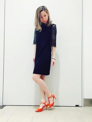 RANDA piole姫路店|yoshika.oさんの「スエードTストラップサンダル(RANDA|ランダ)」を使ったコーディネート
