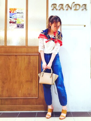 RANDA piole姫路店|yoshika.oさんの「サイドジップミニトートバッグ(RANDA|ランダ)」を使ったコーディネート