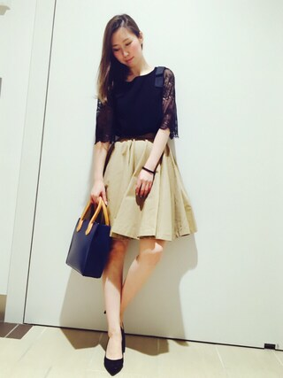 RANDA piole姫路店|yoshika.oさんの「ボリュームフレアースカート(RANDA|ランダ)」を使ったコーディネート