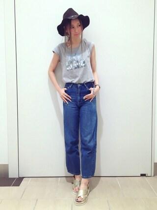 RANDA piole姫路店|yoshika.oさんの「CAMILLE BIS RANDA/ジュートソールクロスデザインサンダル(RANDA|ランダ)」を使ったコーディネート