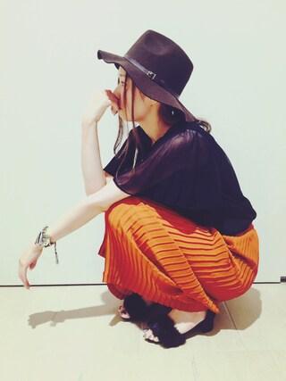RANDA piole姫路店|yoshika.oさんの「チャンキーヒールファーサンダル(RANDA|ランダ)」を使ったコーディネート