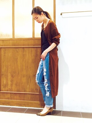 RANDA piole姫路店|yoshika.oさんの「ロングシャツワンピース(RANDA|ランダ)」を使ったコーディネート