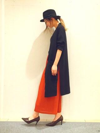 RANDA piole姫路店|yoshika.oさんの「ダイアゴナルブーティパンプス(RANDA|ランダ)」を使ったコーディネート