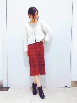 RANDA piole姫路店|yoshika.oさんの「スタックヒールベルトブーツ(RANDA|ランダ)」を使ったコーディネート